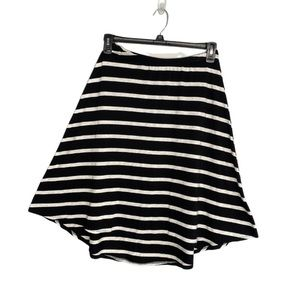 Chalet Black Gray Stripe High Low Skirt S New